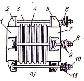 Механический полуразгруженный компенсатор с пружинами