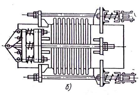 Механический полуразгруженный компенсатор с рычагами и пружинами