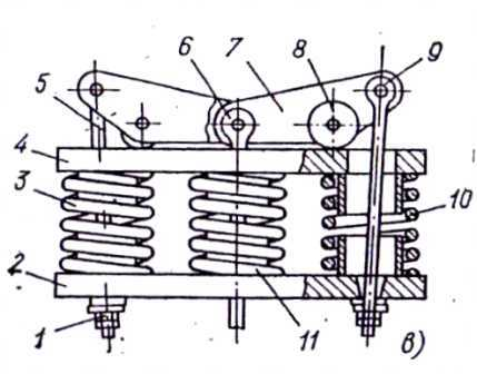Механический полуразгруженный компенсатор - рычажное устройство