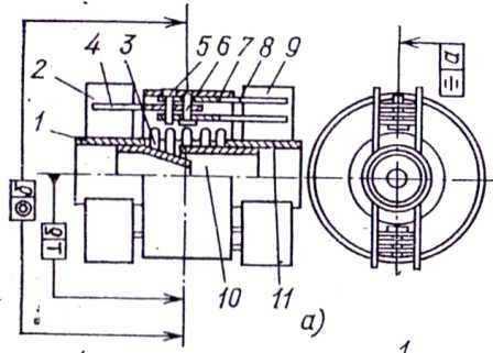 Угловой сильфонный компенсатор с плоскими шарнирами