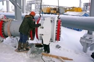 Установка сильфонного компенсатора на трубопровод