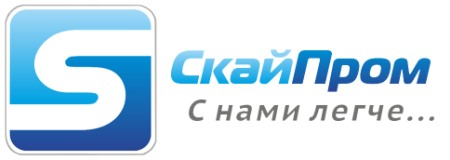 Логотип и девиз компании СкайПром