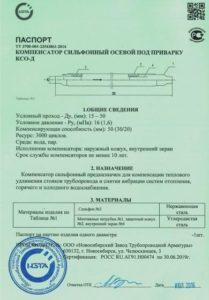 Первая страница паспорта